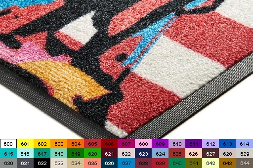 Jet-Print ™ doormats, plain and customization, to 20-color, choice of 44 standard colors, JetPrint ™ -Schmutzfang mats, Design Mats, Promotional Mats